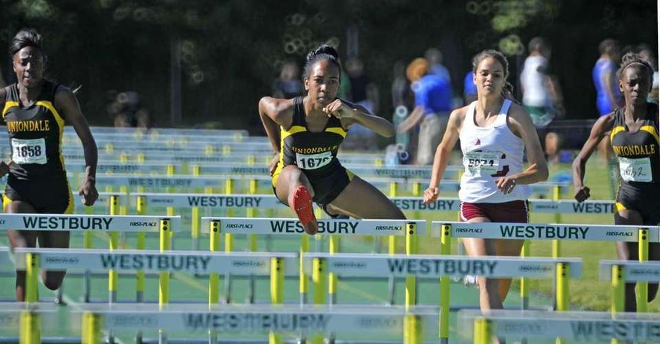 Brittney Webley of Uniondale is steps ahead of
