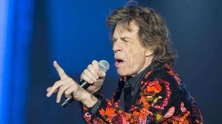 Mick Jagger of the Rolling Stones performs