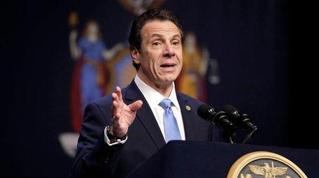 Gov. Andrew Cuomo, shown in New York on