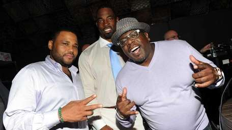 Actor Anthony Anderson, NFL player Justin Tuck and