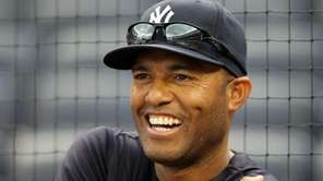 Mariano Rivera of the Yankees looks on before