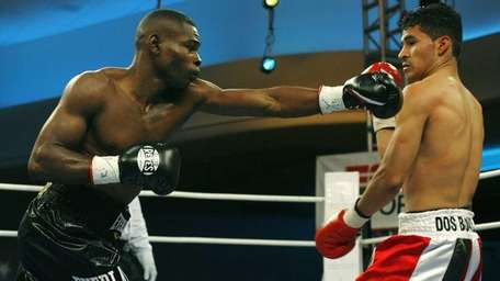 Guillermo Rigondeaux, left, connects with a right hand