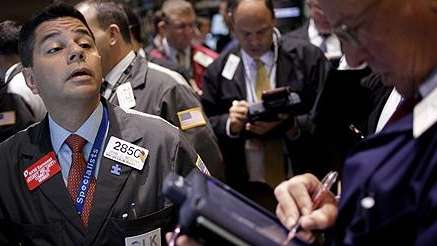 Stock exchange traders on Thursday