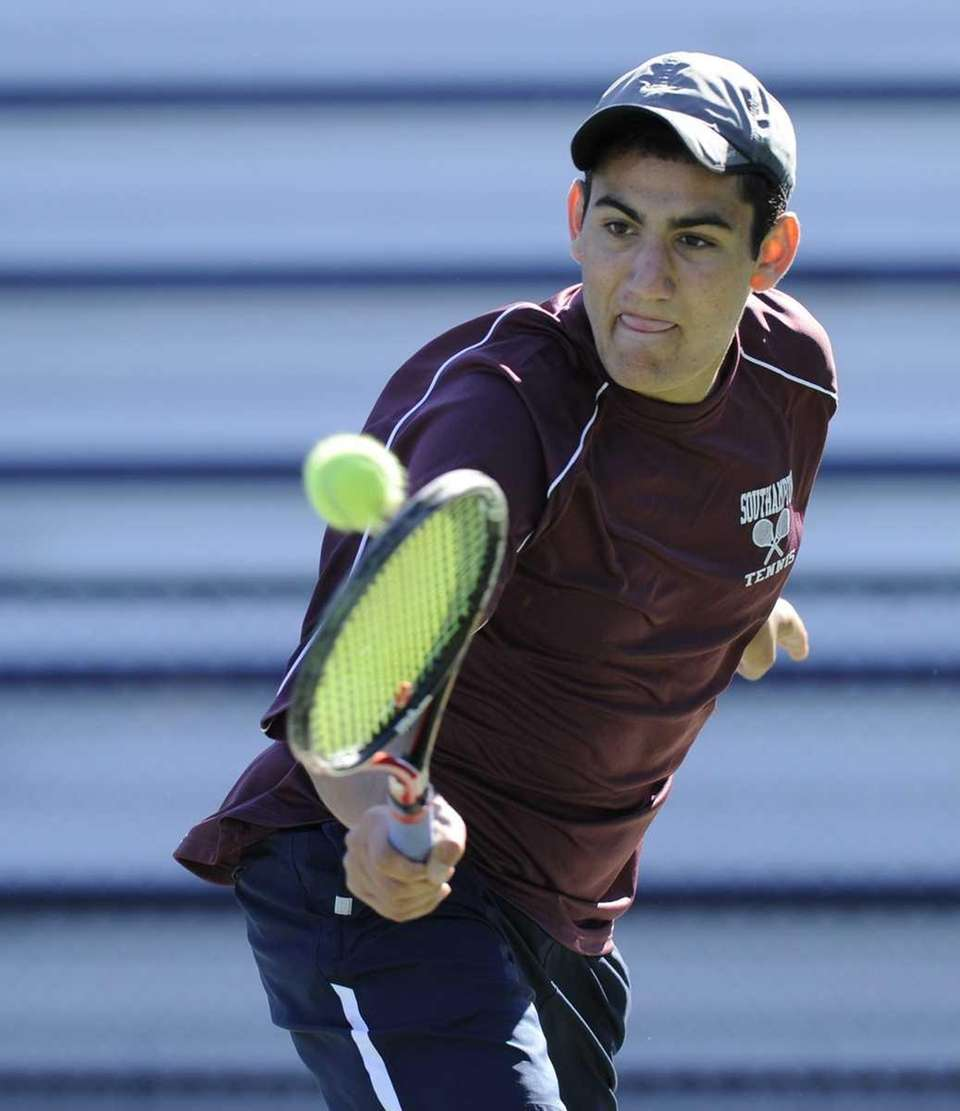 Jeremy Dubin from Southhampton won his second-round singles