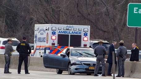 State Police investigate an accident involving a state