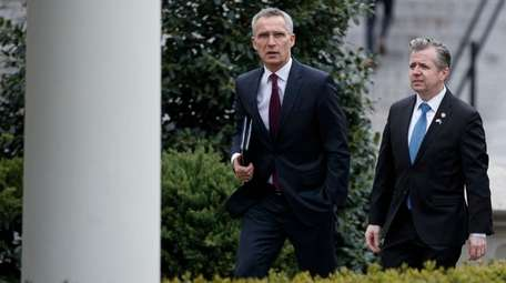 NATO Secretary General Jens Stoltenberg arriving Tuesday at