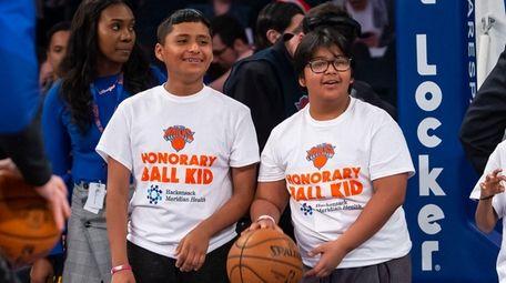 Kidsday reporters Humberto Guevara, left, and Jose Munguia