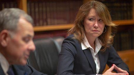 Attorney Thomas Liotti and his client Katuria D'Amato,