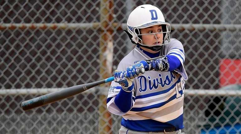 Dani Roselli of Division swings at a pitch