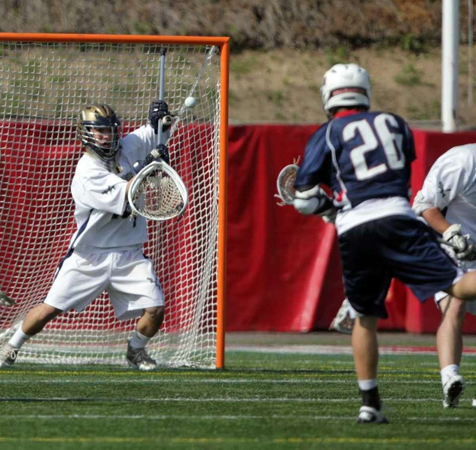 Cold Spring Harbor's Jordan Walter with a shot