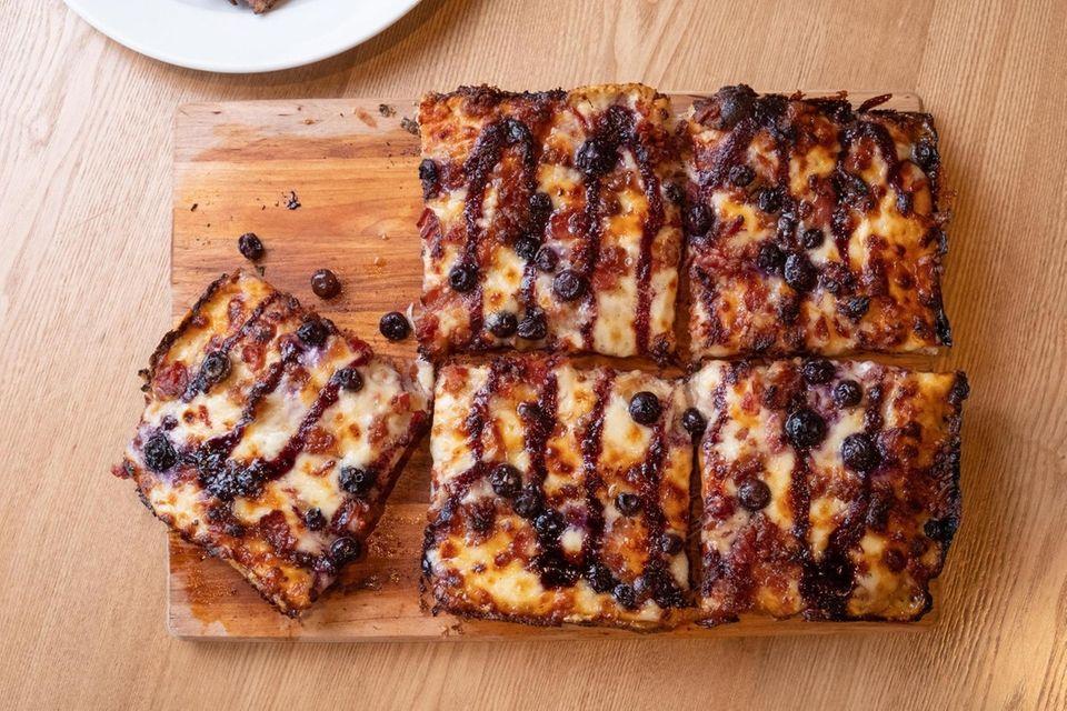 "The ""American Pie"" Detroit-style pizza at Gaetano's FLour"