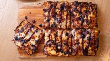 "The ""American Pie"" Detroit-style pizza at Gaetano's Flour"
