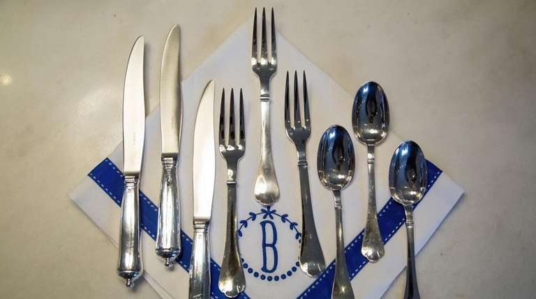 Puiforcat silverware at the home of Renee and