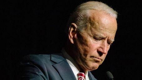 Former Vice President Joe Biden during a speech