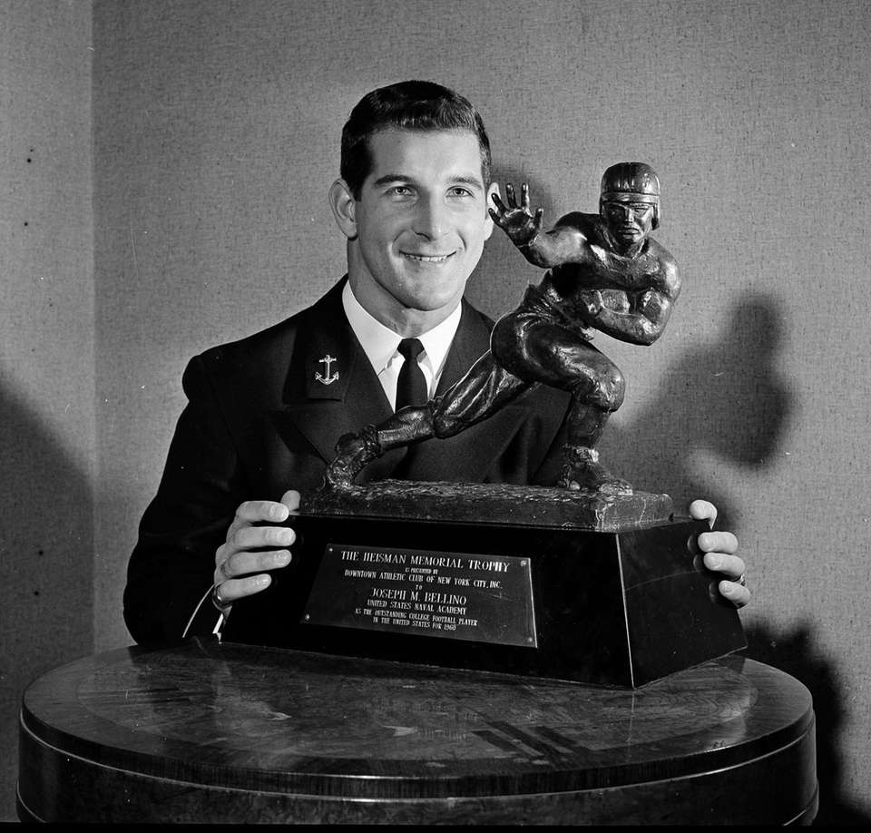 Joe Bellino, an all-purpose halfback for the Naval