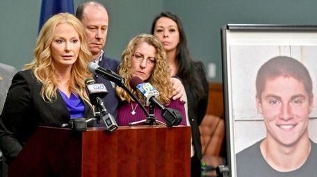 Centre County District Attorney Stacy Parks Miller announces