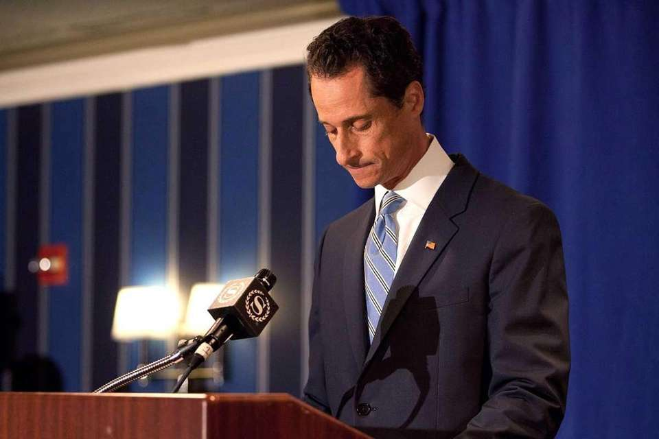 Rep. Anthony Weiner (D-Forest Hills) during a news