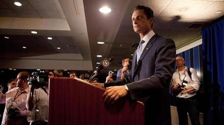 Rep. Anthony Weiner at Monday's press conference.