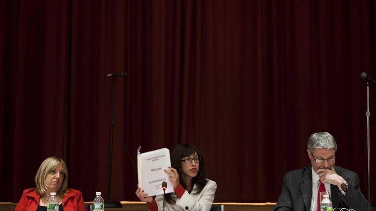 Syosset schools Superintendant Carole Hankin, seen at a
