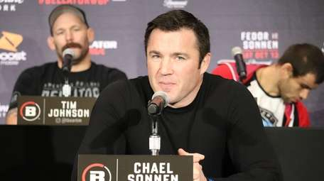 Chael Sonnen at the Bellator 208 press conference