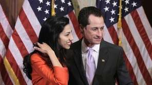 Rep. Anthony Weiner, D-N.Y., and his wife, Huma