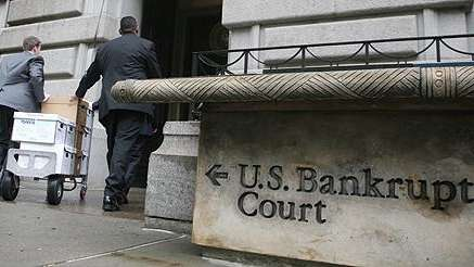 Documents being taken into U.S. Bankruptcy Court