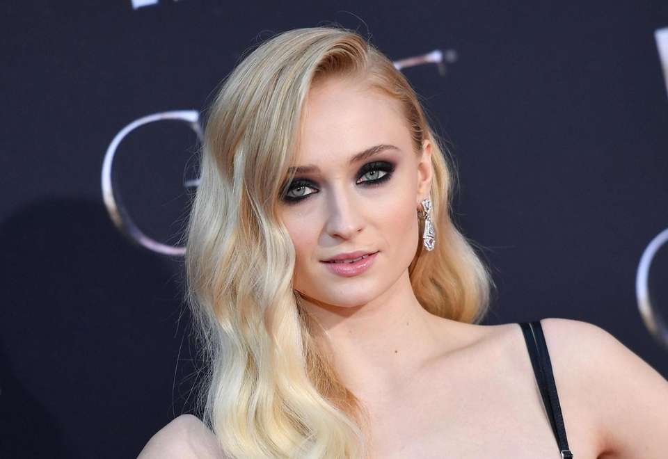 "British actress Sophie Turner arrives for the ""Game"