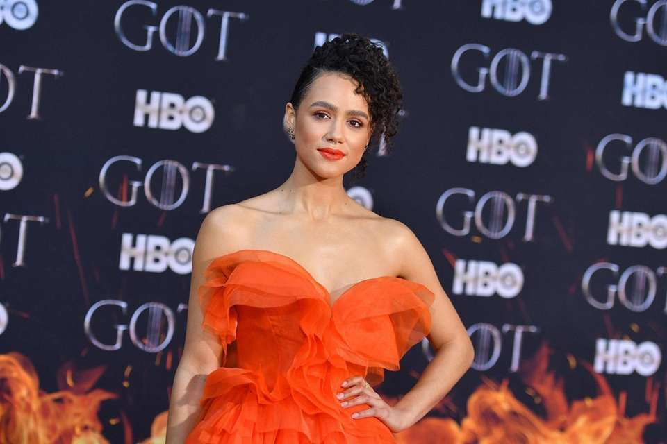"British actress Nathalie Emmanuel arrives for the ""Game"