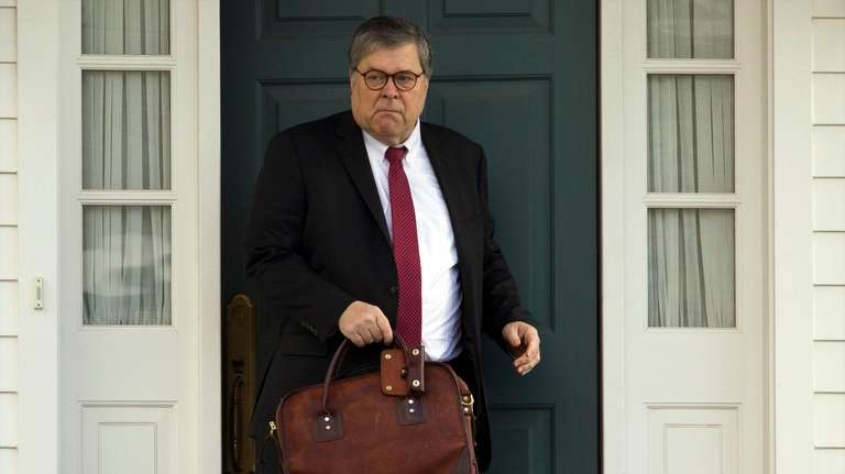 The Justice Department defended Attorney General Barr's summarizing