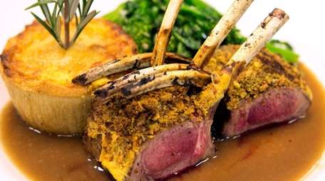 Pistaschio-crusted rack of lamb is one of the