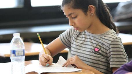 Lia Kalathil, a fifth-grader at Holbrook Road Elementary