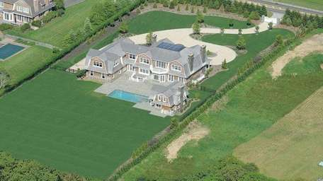 A recently completed shingle-style Bridgehampton home has been