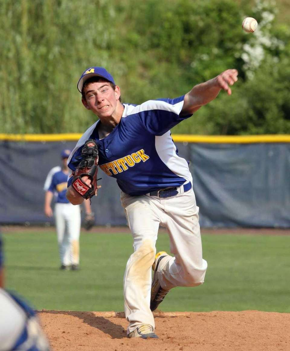 Mattituck's Steve Ascher comes in to pitch on