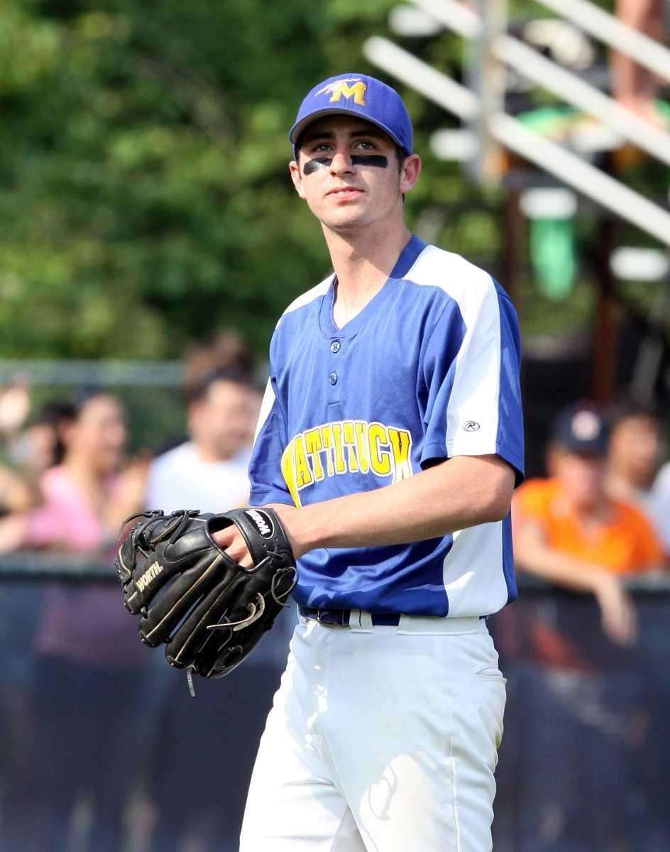 Mattituck's Yianni Rauseo reacts to giving up homer