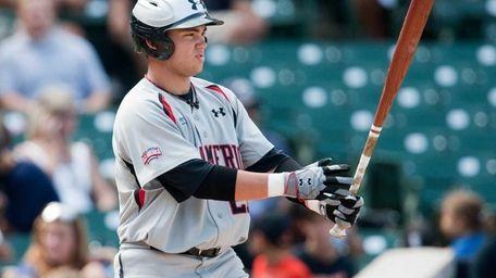 Dante Bichette, Jr. during an at-bat at the