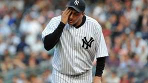 New York Yankees starting pitcher Freddy Garcia (36)