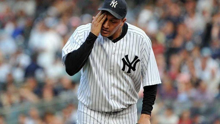 New York Yankees starting pitcher Freddy Garcia (36)