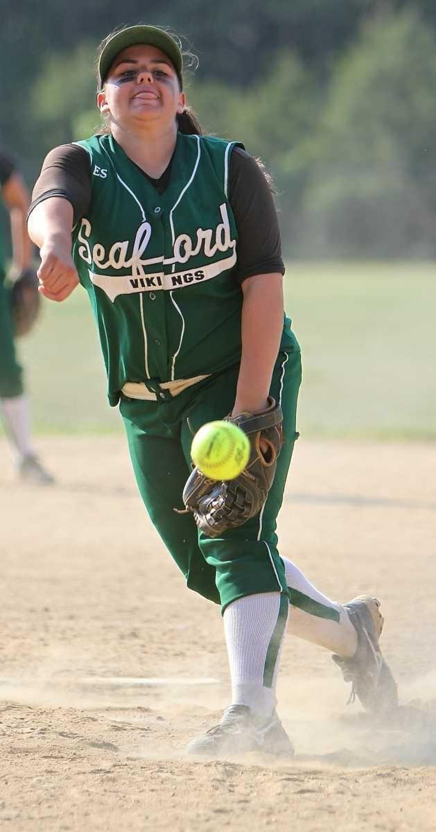 Seaford starting pitcher Lindsey Montemarano #25. (June 7,