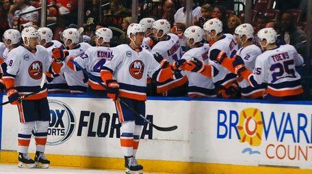 New York Islanders center Brock Nelson, No. 29,