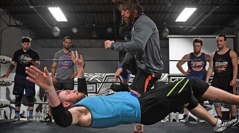 Hawkins, with Ben Bickford (known in wrestling as