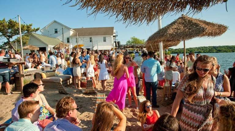 The crowds start early at Surf Lodge in