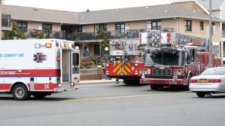 The Long Beach Fire Department at an apartment