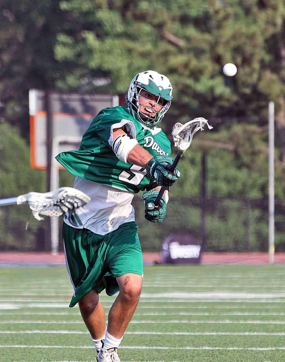 Farmingdale's Mike Perettine launches a blistering goal during