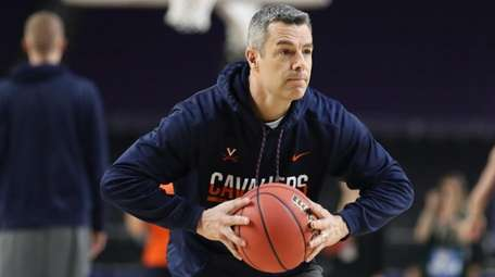 Virginia coach Tony Bennett during practice Friday in