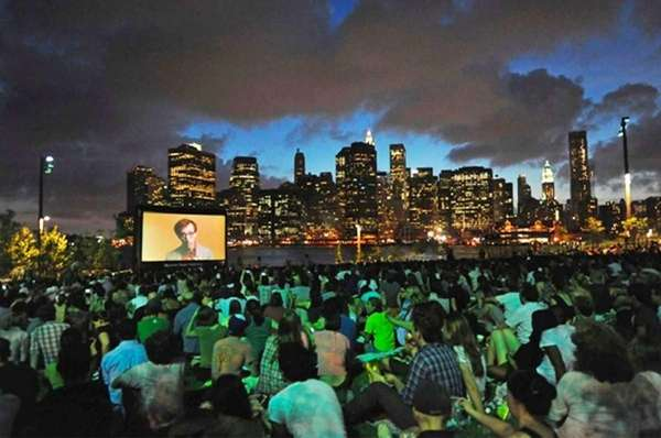 Brooklyn Bridge Park hosts a summer screening series,
