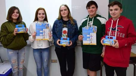 Seaford Middle School's National Junior Honor Society recently