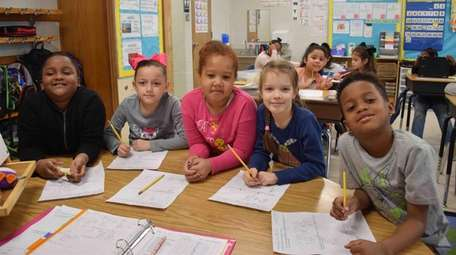 Second-graders in Jackie Oquendo's class at Susan E.
