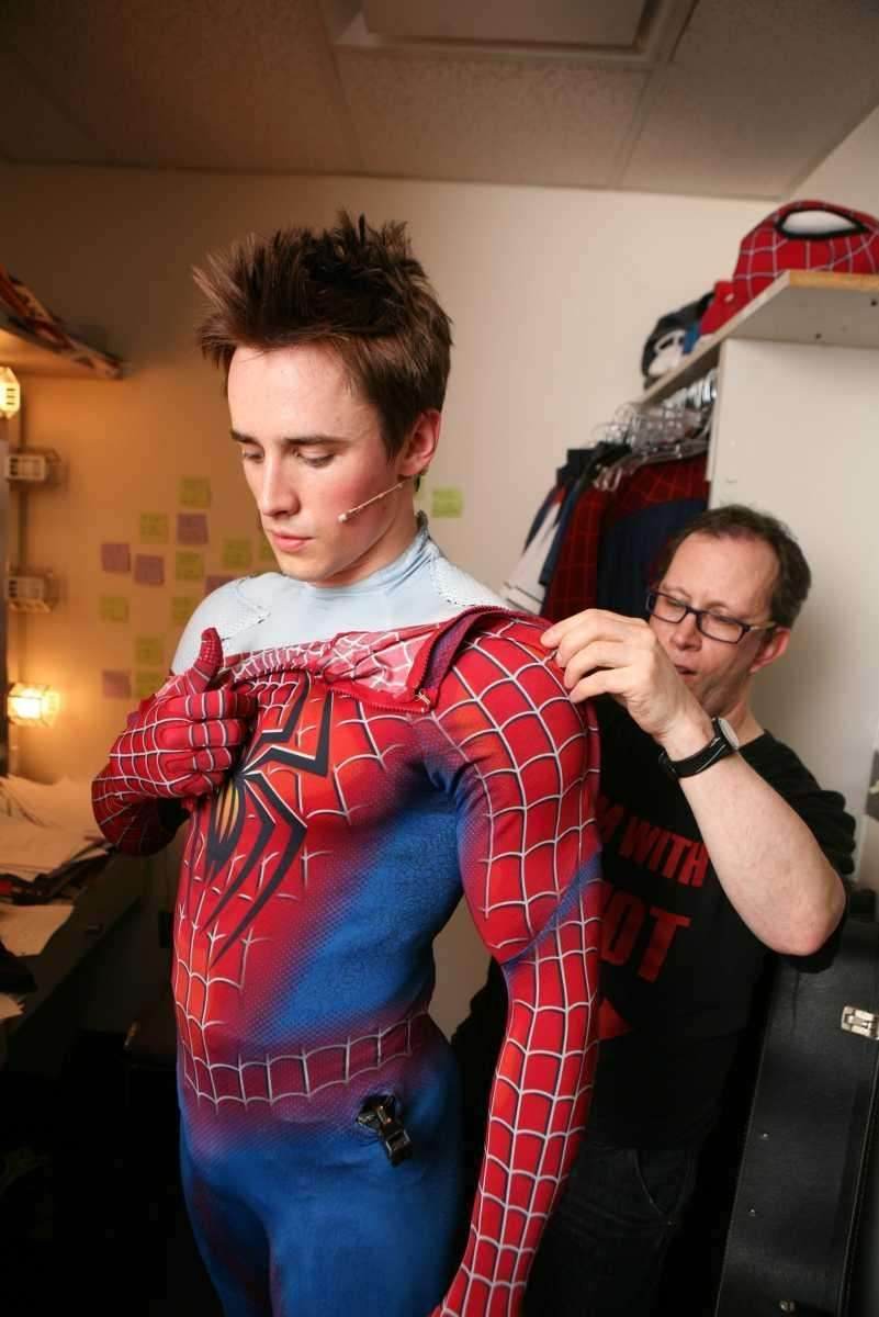 Reeve Carney is assisted by his dresser in