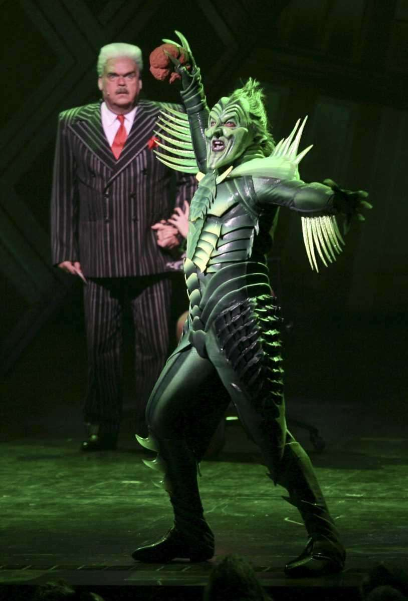 Pictured from left: Patrick Page as Green Goblin