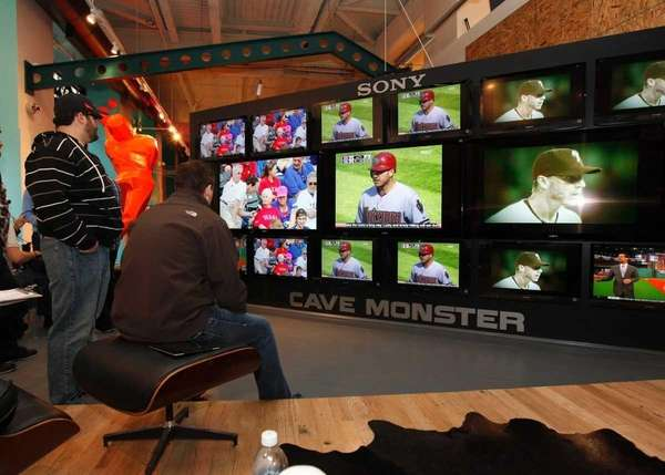 MLB Network party at the MLB Fan Cave